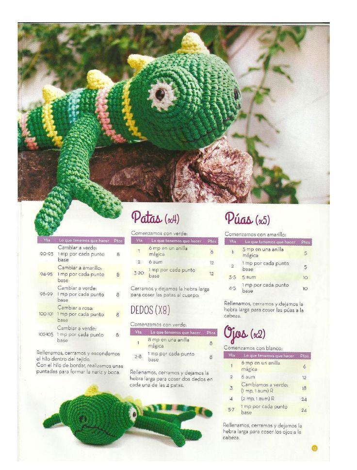 Asombroso Patrón De Crochet Libre Camaleón Patrón - Ideas de ...