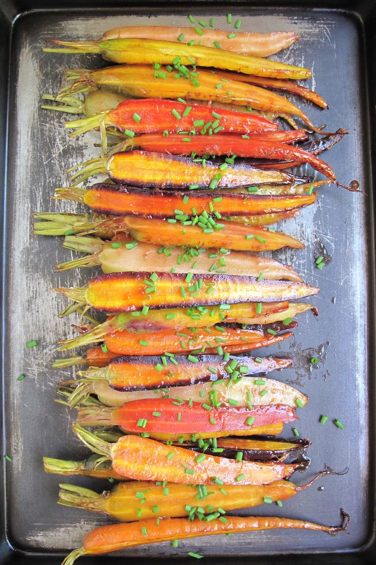 Oven Roasted Rainbow Carrots with Orange Glaze | Autoimmune Paleo