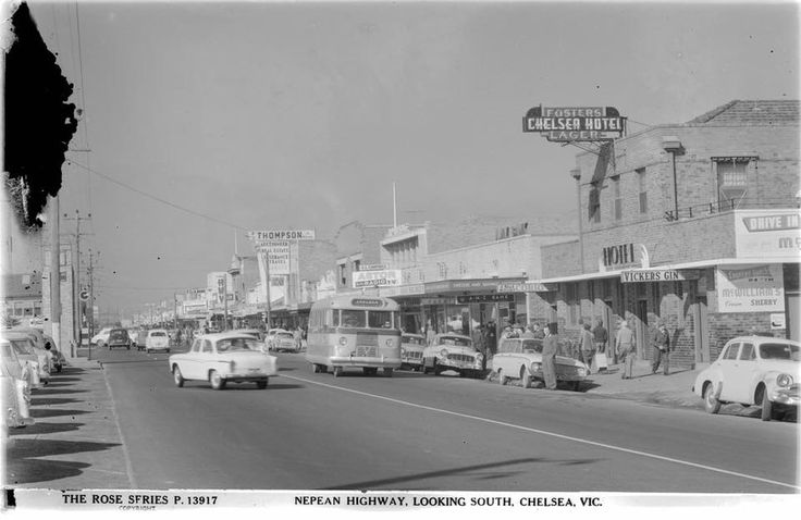 "Nepean Highway, Chelsea. I worked at ""The Red Brick"" Chelsrea Hotel for a few months in my youth."
