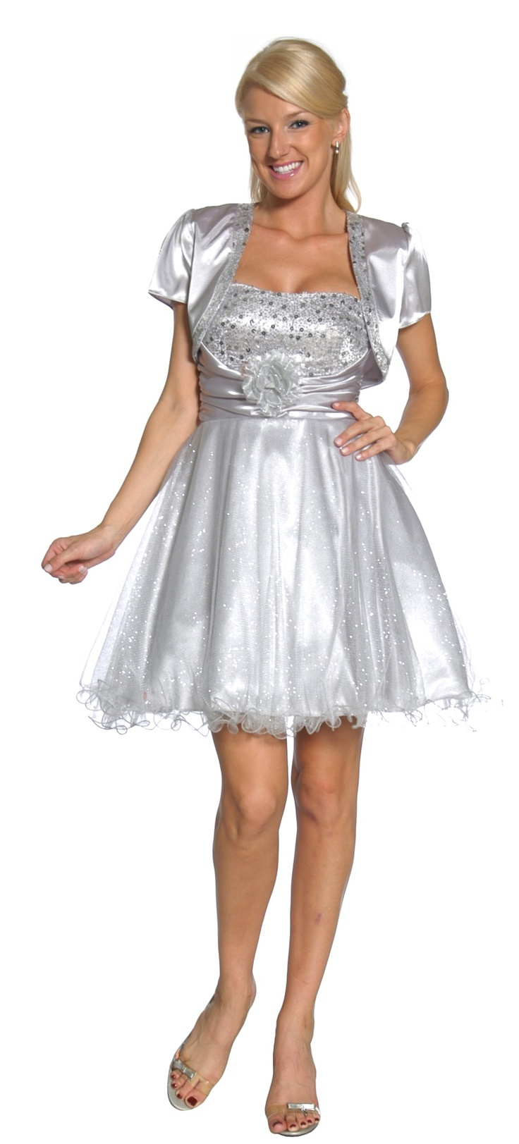 Strapless Dress with Boleros