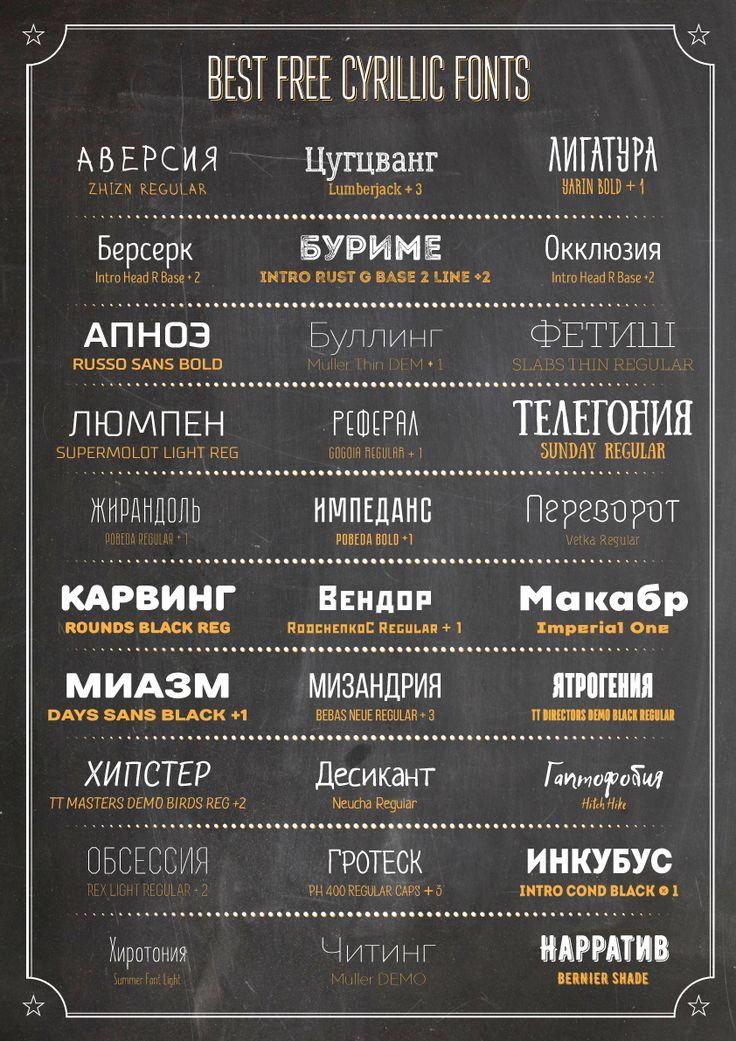 Best Free Cyrillic Fonts