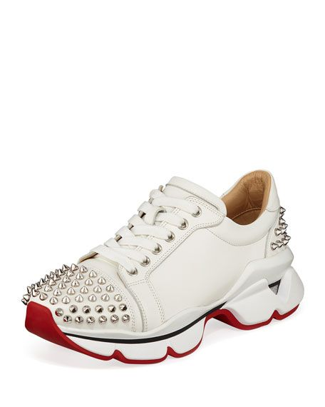 087c3796bf4 Christian Louboutin VRS Leather Red Sole Sneakers in 2019 ...