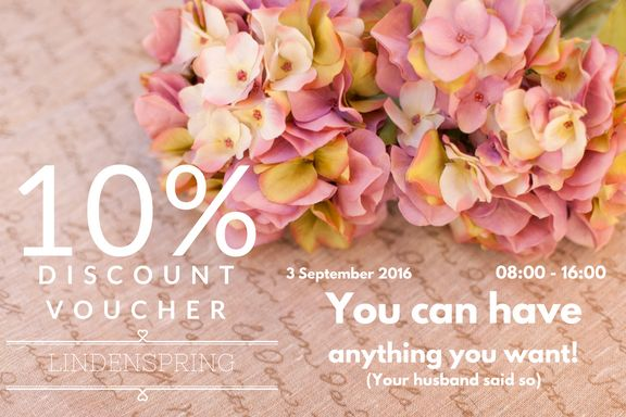 Join us at The Linden Market & Champagne Lane- Spring Edition! on the 3rd of September. Bring along this voucher and get 10% off your purchase! http://ift.tt/2qHLlLW