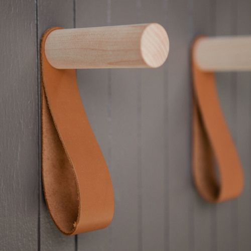 Alice Tacheny | Teddy Hook, maple peg hook with leather strap