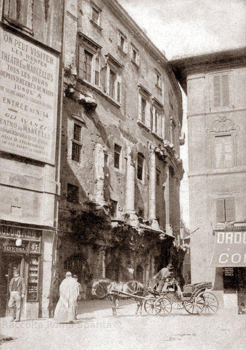 Foto storiche di Roma - Avanzi del Teatro di Marcello