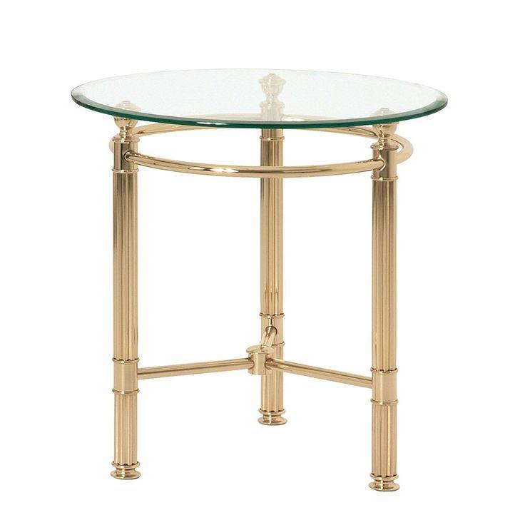 Beistelltisch Aube   Stahl/Glas   Vergoldet Mit  Wellenprofil/Facettenschliff, Home Design Jetzt