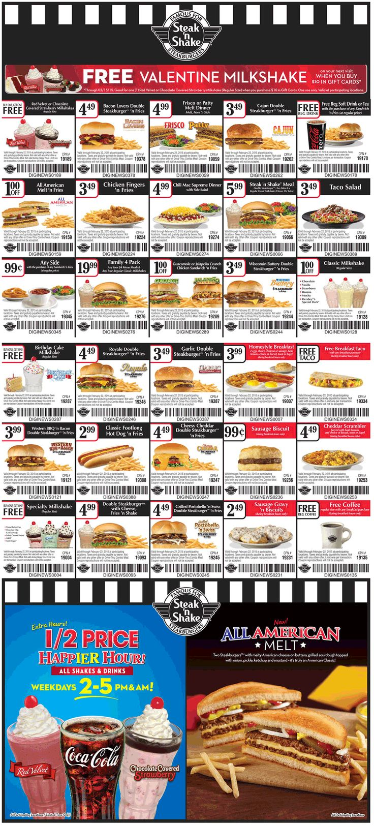 Steak n shake coupon steak n shake promo code from the coupons app second shake free free coffee more at steak n shake restaurants february