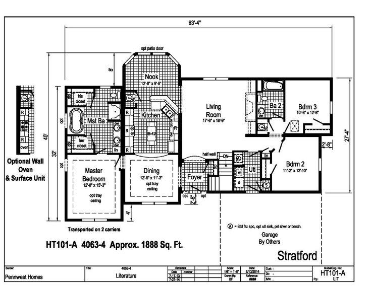 Stratford Homes Floor Plans: Stratford HT101A - Pennwest Ranch Modular