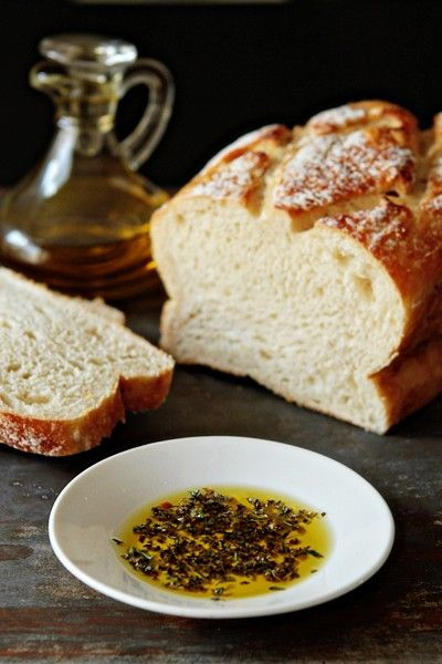 Salted bread and olive oil. I could eat a whole loaf of that.
