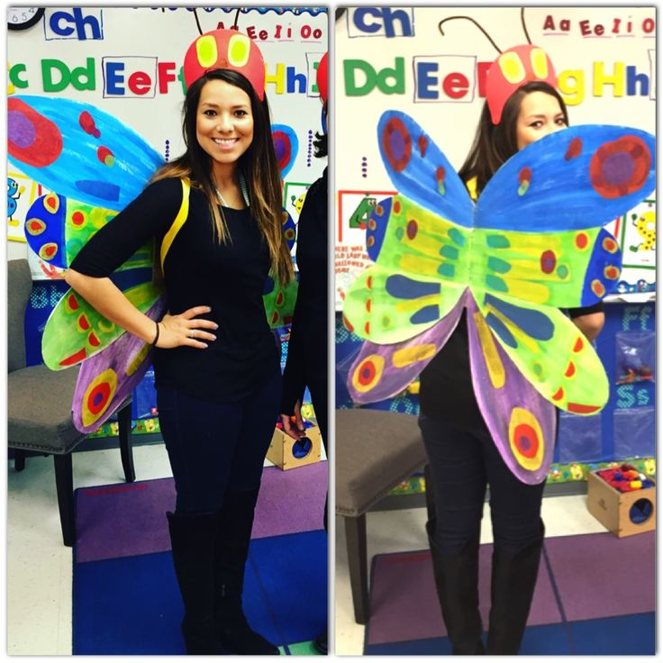 Storybook character costume for teachers. The Hungry Caterpillar.