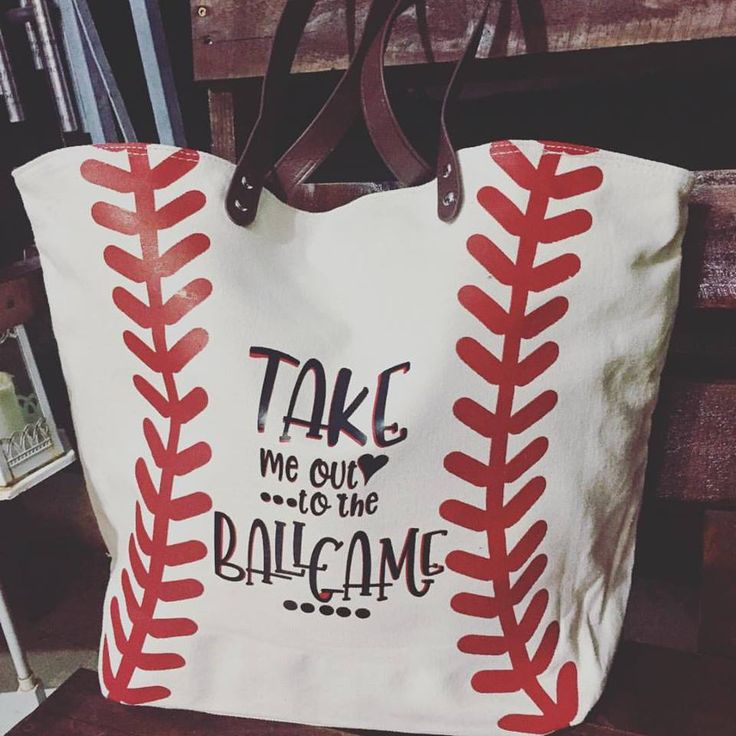 Customizable Canvas Baseball Tote by LizzyBee07 on Etsy