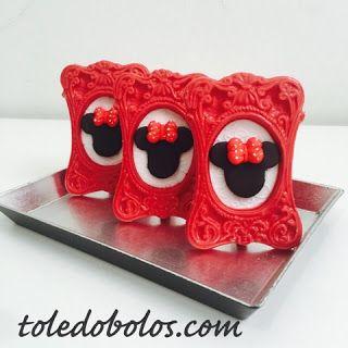 Toledo Bolos - Bolos decorados, Cupcakes e Macarons no Rio de Janeiro: Porta retrato da Minnie
