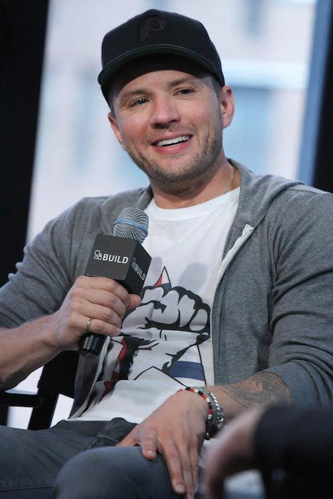 "Ryan Phillippe discussing his new Television Series ""Secrets And Lies"" at AOL Studios in April 2015..."