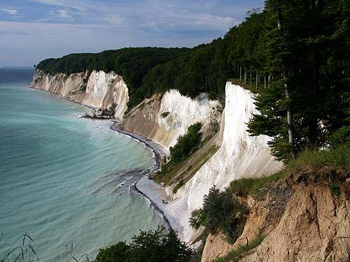 The White Chalk Cliffs of Rugen, Germany,  Blackboards, anyone? :P