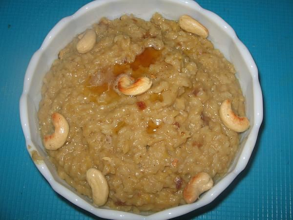 Sankranti | Pongal Festival - Sakkara Pongal | Chakra Pongali - Sweet Pongal - Adding Dates and Honey to give a twist to the traditional Sweet Pongal