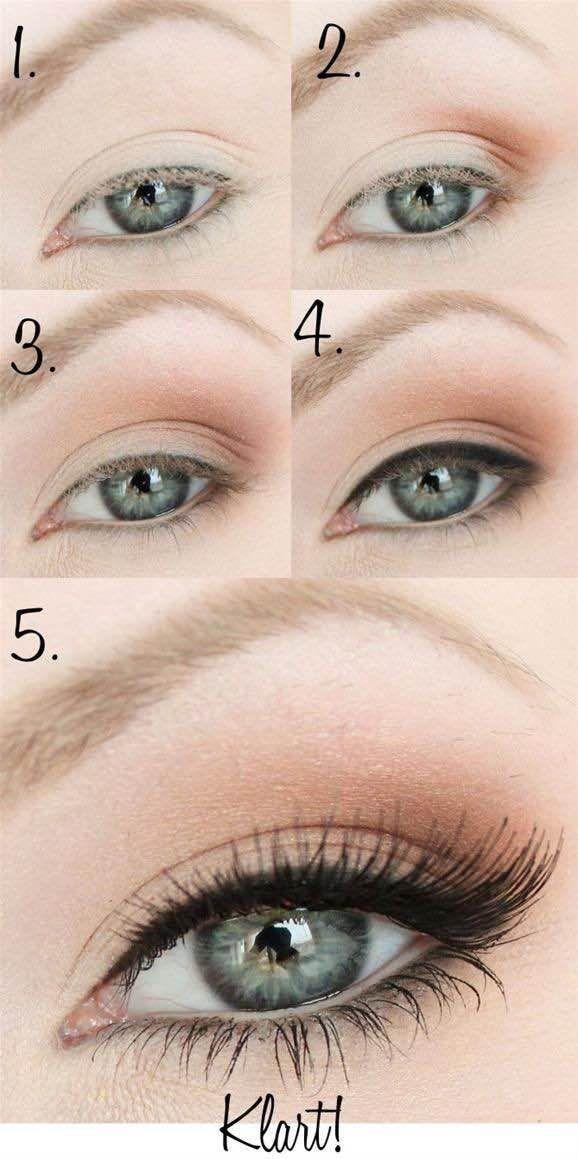 Love this romantic eye makeup! Image via Vivid Gift Ideas