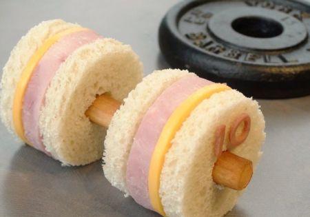 sporty sandwich   gezonde traktatie
