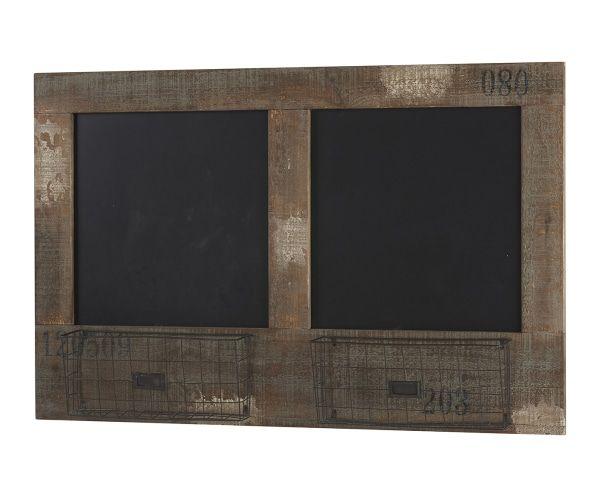 """459zł Tablica łupkowa z koszykami """"Double Panier"""", 12 x 105 x 68 cm"""