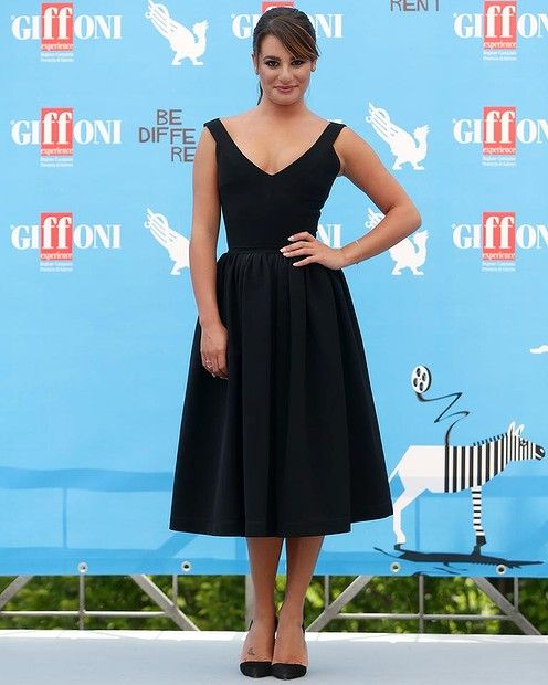 Actress Lea Michele attends Giffoni Film Festival photocall on July 20, 2014 in Giffoni Valle Piana, Italy. #leamichele #redcarpet #fashion #smh #lifeandstyle