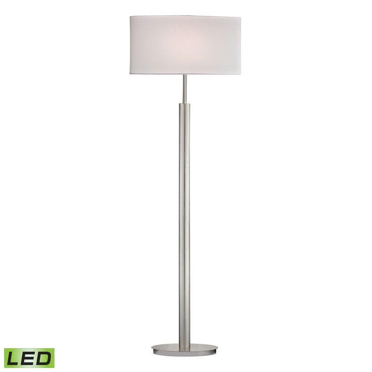 Port Elizabeth LED Floor Lamp in Satin Nickel D2550-LED
