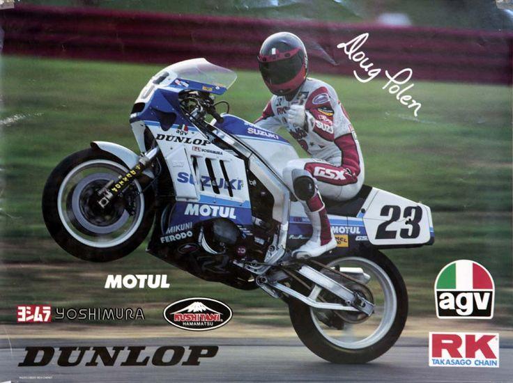 Doug Polen on the GSX-R