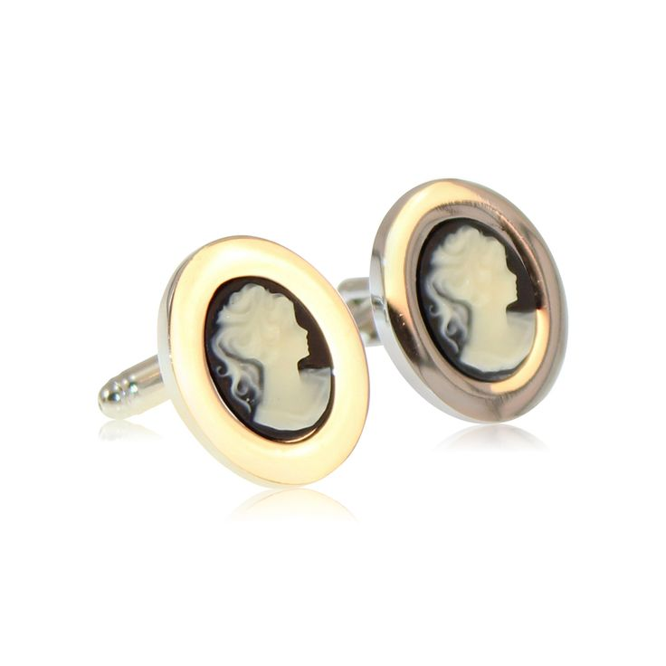So unique and eye-catching, these Cameo Dame cufflinks will win compliments all day.   Made from solid brass with rhodium plating and semi-precious Cameo.. The rhodium ensures a tarnish-free appearance unlike similar cufflinks made from nickel or sterling silver. The jewellery's brass construction and moulded fastening clasp will remain solid and firmly attached for the lifetime of your cufflinks. Expect to enjoy these for the next 20 years! http://www.byariane.com.au/Cufflinks-Cameo