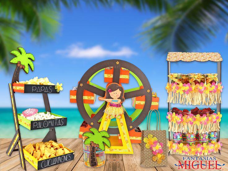 Súper fácil y bonito de hacer, ¿no crees? Pasa un cumpleaños inolvidable junto con tus amigos ¡¡ Aloha Hawaii !!