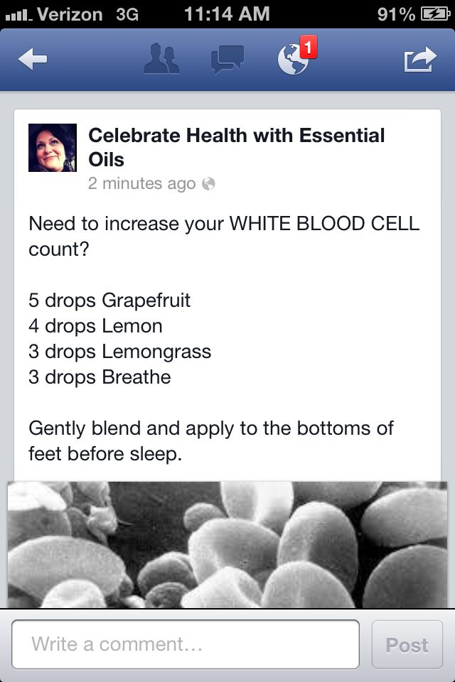 Increasing white blood cell count to help your body fight off that illness!