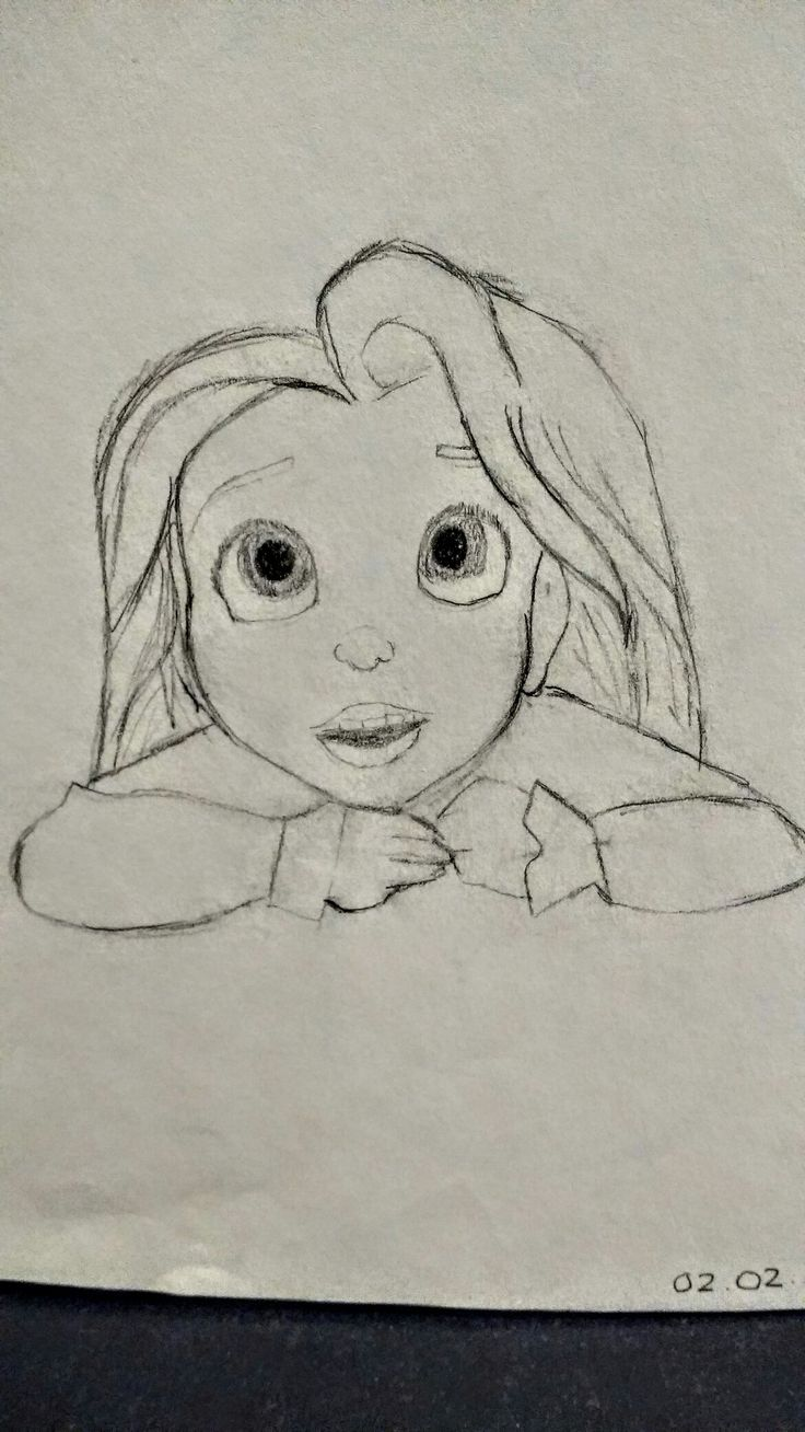 Rapunzel - Free Hand Sketch  By: Anima Armah
