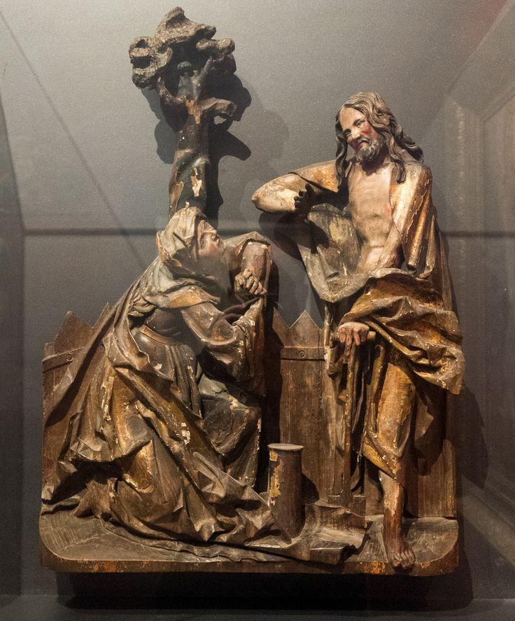 """""""Noli me tangere"""" (Ecole rhénane, XVe s., bois polychrome doré) musée des beaux-arts de Belfort (Territoire de Belfort, France)   Flickr - Photo Sharing!"""