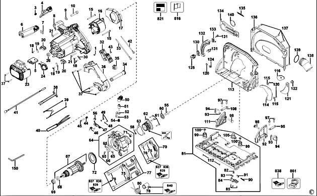 DeWalt DWS520 Type 1 Corded Plunge Saw Spare Parts - Part Shop Direct