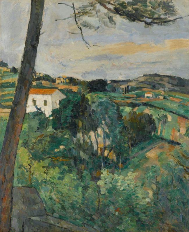Paysage au toit rouge ou Le Pin à l'Estaque (Paul Cézanne, circa 1876, Musée de l'Orangerie, Paris)
