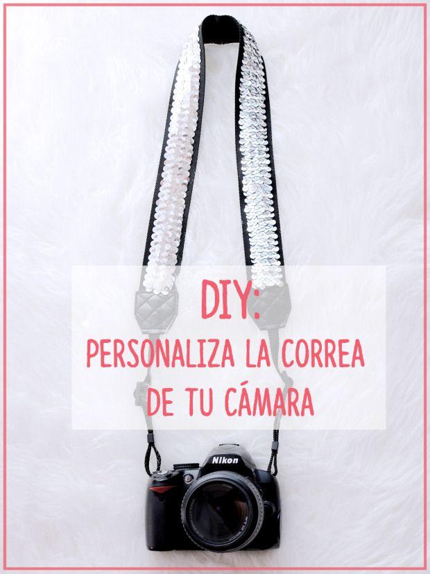 DIY Correa cámara lentejuelas Gema Espinosa Rubirroja - Personaliza la correa de tu cámara
