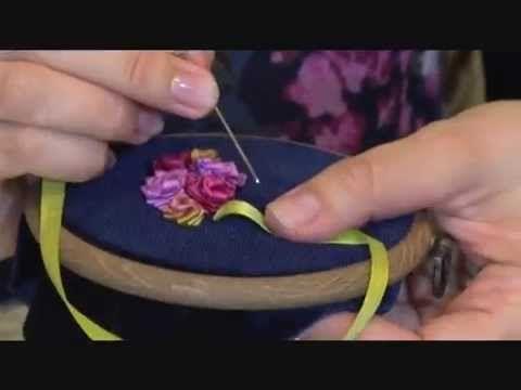 Мастер-класс вышивка лентами