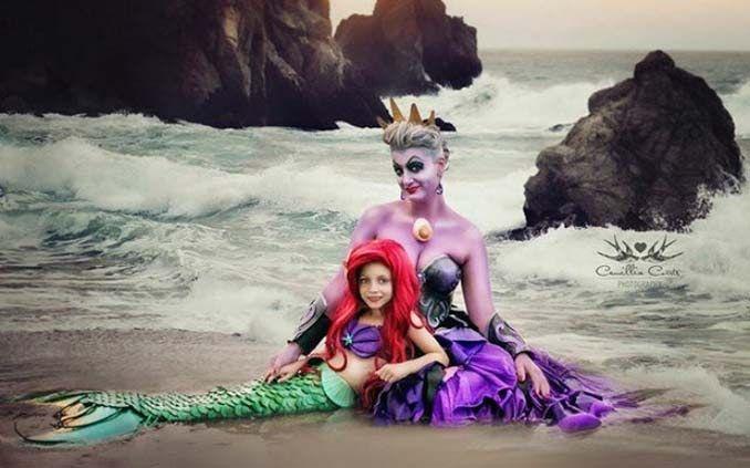 7χρονη με τη μητέρα της μεταμφιέζονται σε χαρακτήρες της Disney