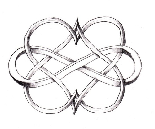 Double heart and infinity sign - Maybe as a stamp for the thank you cards of my someday future wedding