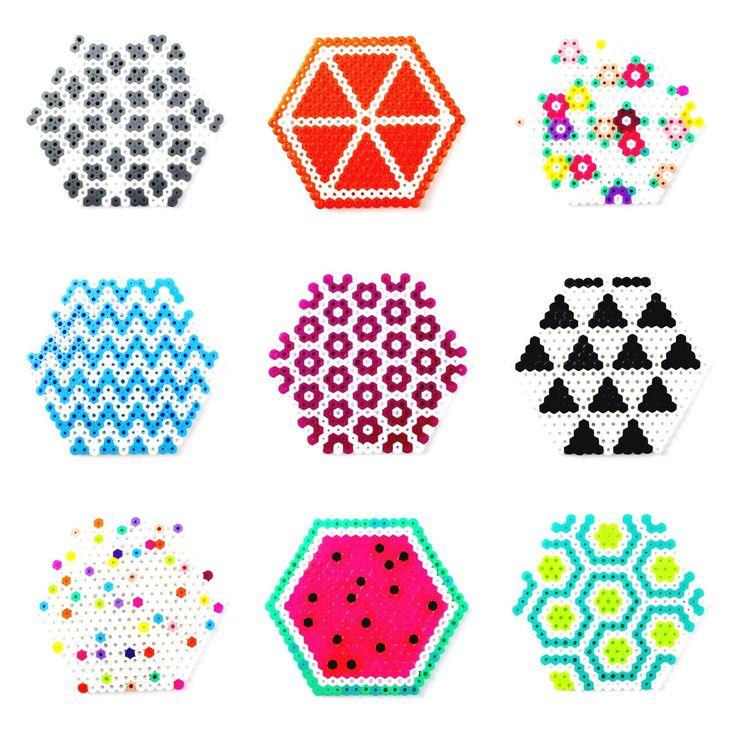 Coasters hama beads by AubergineFox