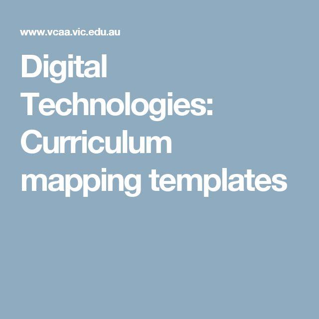 Digital Technologies: Curriculum mapping templates