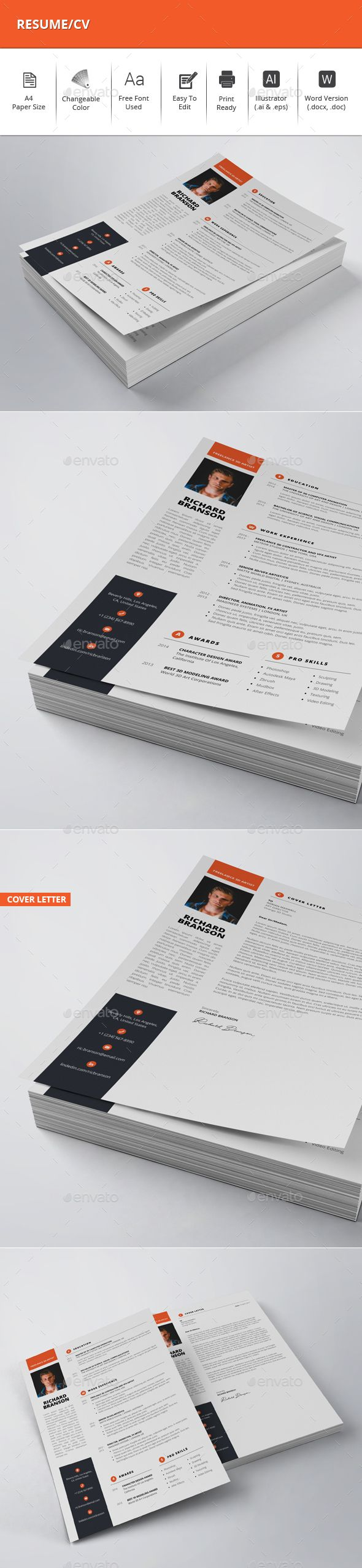 ResumeCV 1552 best Resume Design images on