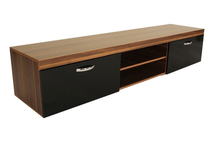 Riana KL-MIL-001 Milan TV Unit – Black - The Milan TV Unit is the perfect furniture piece for large screen televisions to be proudly and safely displayed. The 2.0m Milan unit will safely hold screens up to 88 inches in size and the 1.4m Milan unit can hold screens up to 65 inches. The two drop down front doors are made with a high gloss finish