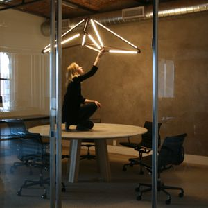 Bec Brittain's SHY 08 fixture is fantastic. Love that the working joints make each one virtually custom #lighting
