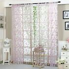 Vines Leaves Tüll Türfenstervorhang Plain Floral Curtains Decor Slot Top …   – Window Treatments & Hardware