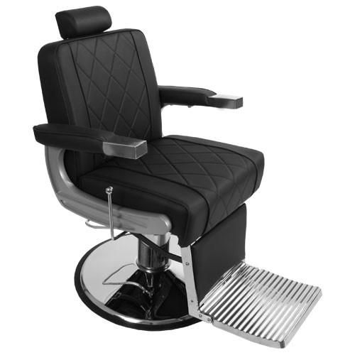NEW Adams Barber Chair for sale exclusively with Keller International. Bold metal design, plush cushioning & NG1-N base. Shop barber shop equipment today!