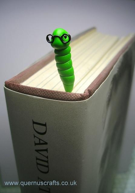 Bookworm Bookling by QuernusCrafts, via Flickr