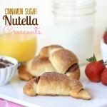 Cinnamon Sugar Nutella Crescent Rolls