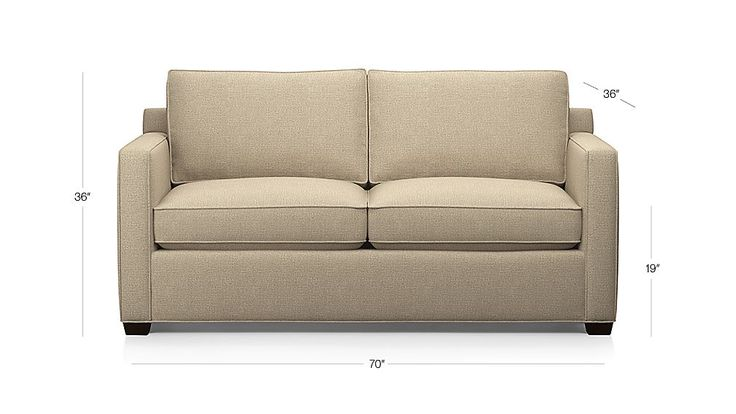 Davis Apartment Sofa Darius: Mink | Crate and Barrel