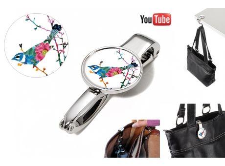 TROIKA Taschenclip und - halter BIRDIE | Werbeartikel und Werbemittel zum Bedrucken mit Logo | Erwin Lang Werbeartikel