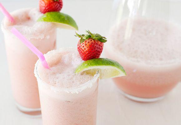 Strawberry Coconut Coladaritas (margarita-pina-colada)