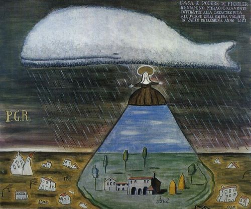 Dino Buzzati, Ex voto - La balena volante, 1970.