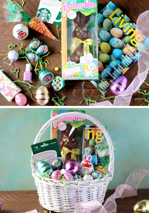 109 best diy easter images on pinterest easter recipes easter celebrate the easter holiday with a diy easter basket fill a simple wicker basket with a chocolate bunny egg candies gift cards to your son or daughters negle Choice Image